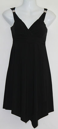 4. Lil Black Dress w/ Silver Rhinestone Accents
