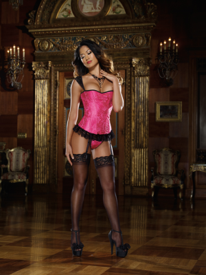 Dreamgirl- Off The Shoulder Corset & Thong