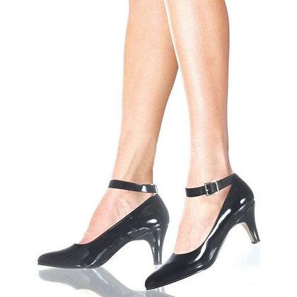"""Devine- 3"""" block heel ankle strap pump"""