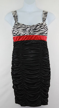 75. Black White & Red Lil Dress