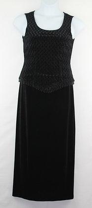 65. Stunning Black Velvet Evening Gown