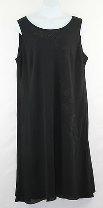 78. Black Beaded Evening Gown