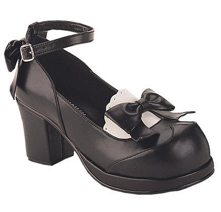 Demona 2-3/4 (inces) chunky heel goth