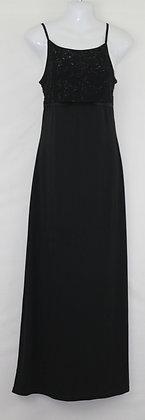 27. Black Formal w/ Silver Embossing Dress