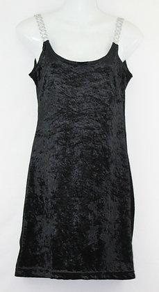 66. Black Velvet Mini w/ Chain Straps