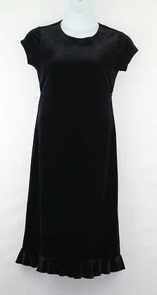 57. Black Velvet  Dress w/ Flared Bottom