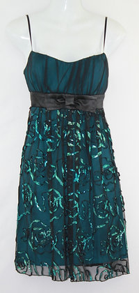 81. Black Teal Green Cocktail Dress