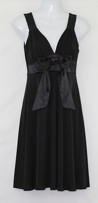 18. Black w/ Shimmering Bow & Strap Evening Dress