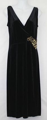 9. Black Sexy Evening Velvet Gown