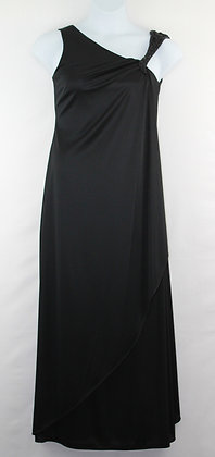 77. Beautiful Black Flowing Evening Gown