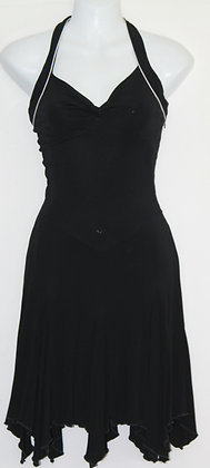 5. Cute Black w/ White Trim Evening Dress