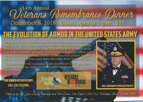 Veterans Remembrance Dinner Dedicated to the History of Armor in the U. S. Army