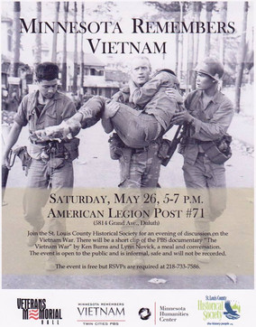 May 26: Minnesota Remembers Vietnam Event at American Legion Post #71