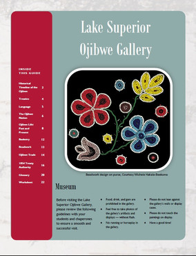 Lake Superior Ojibwe Gallery Educational Guide