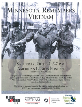 October 27: Minnesota Remembers Vietnam Event at West Duluth Legion