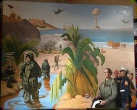 Marine Corps Painting on Temporary Display at The Depot