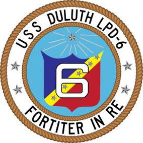 USS Duluth Crewmembers Raise Ship's Flag on June 13, 2019