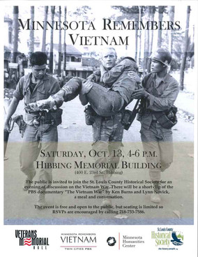 October 13: Minnesota Remembers Vietnam Event in Hibbing