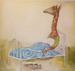 giraf in bed