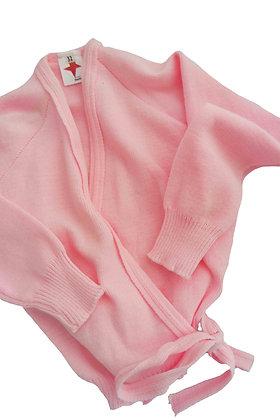 Pink Cross Over Cardigan