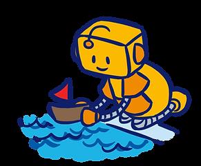 Roboter mit Schiffchen.png
