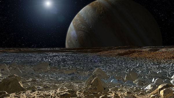 Simulated view from Europa