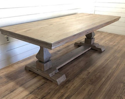 Lime washed white oak table. I'm in love