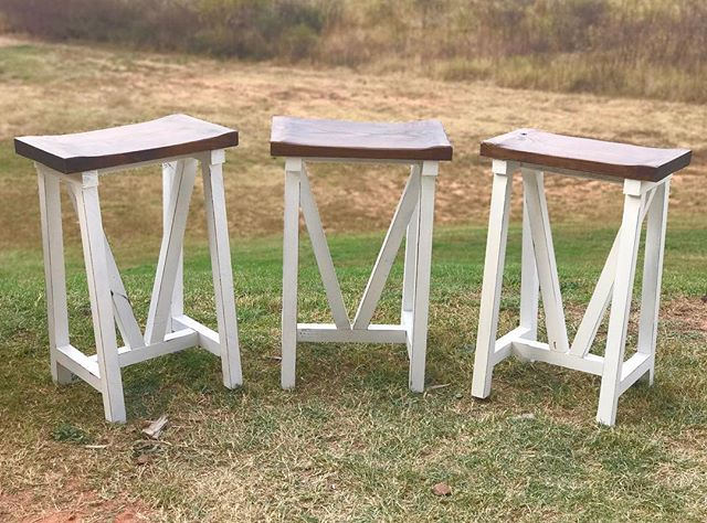 Farmhouse stools that we just finished to match a customers table. It's nice working on something di