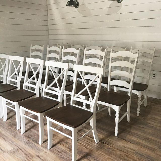 So many chairs! I am digging the new x back style