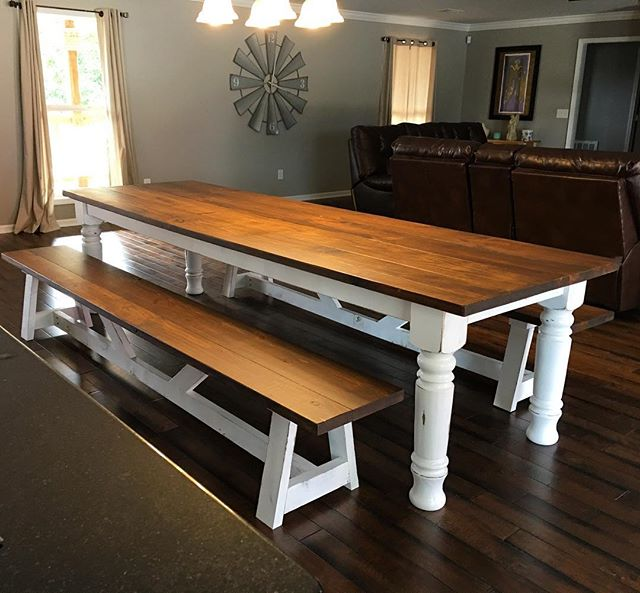 And it's home! Getting the client photos after our driver gets it there is so awesome! #farmtable #d