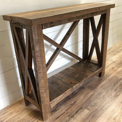 Barn wood x console