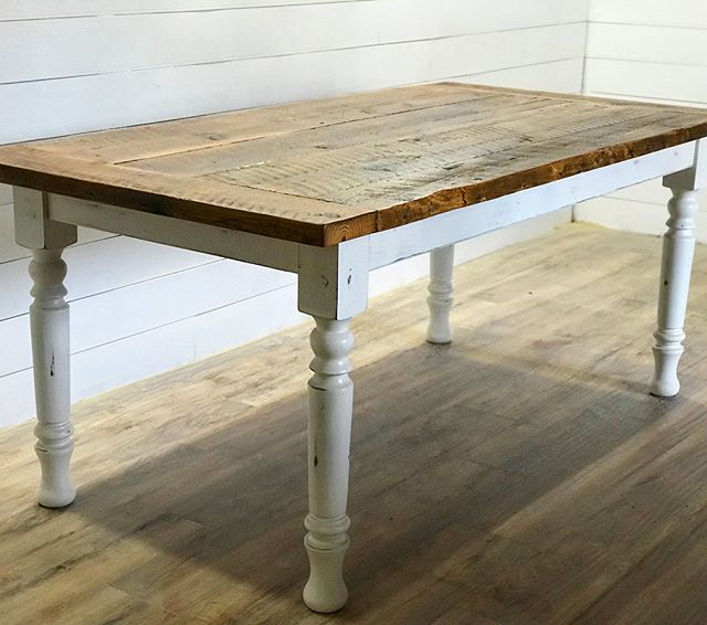 Reclaimed farmhouse table