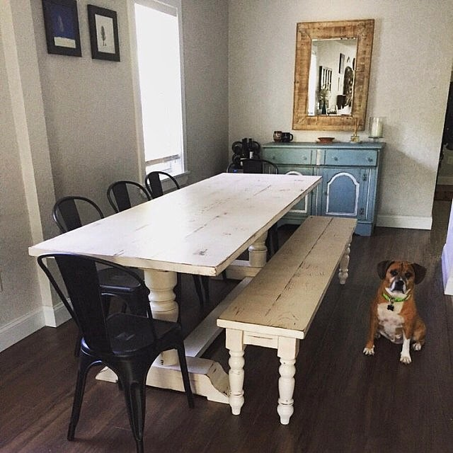 We love customer photos!  The table looks just perfect in her home!  #madeingeorgia #jeffersonga #os
