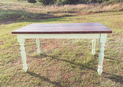 Our new turned leg farmhouse table