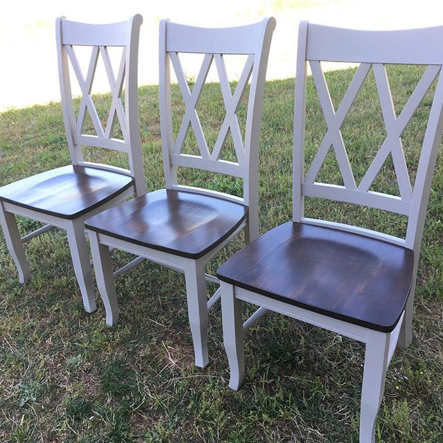 Just finished this set of chairs. We have 30 more of these coming in this Friday