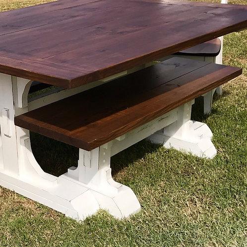 Pedestal Bench