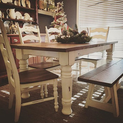 Customer Appreciation photo!! 😍  #farmhousetable #fixerupperstyle #farmhousestyle #likeforlike #fix