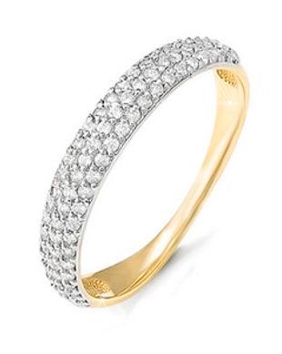 Кольцо, золото 585, фианиты