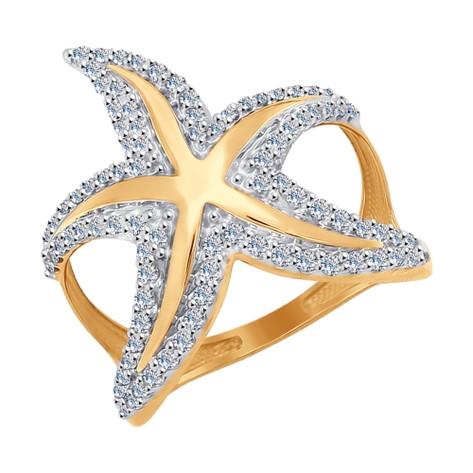 Необычное кольцо из золота