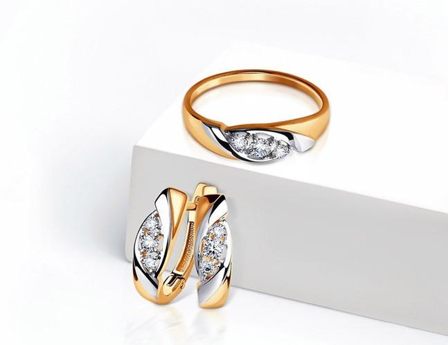 Золото 585, бриллианты
