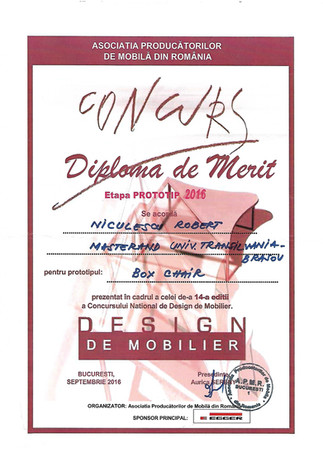 Diploma de merit Box Chair