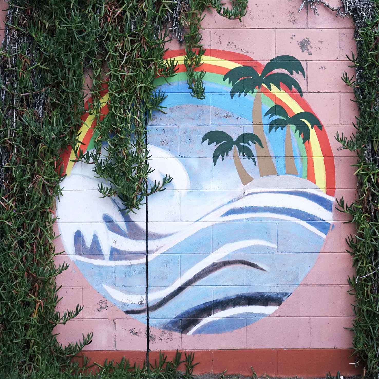 Seal Rocks coastal mural