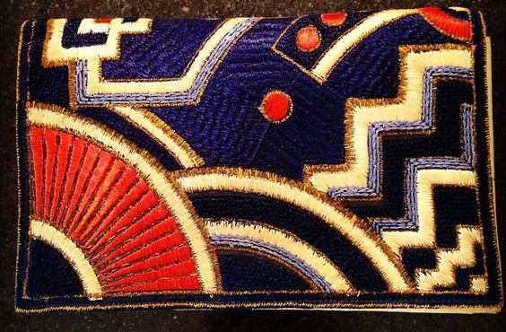 Art Deco Embroidered Bag