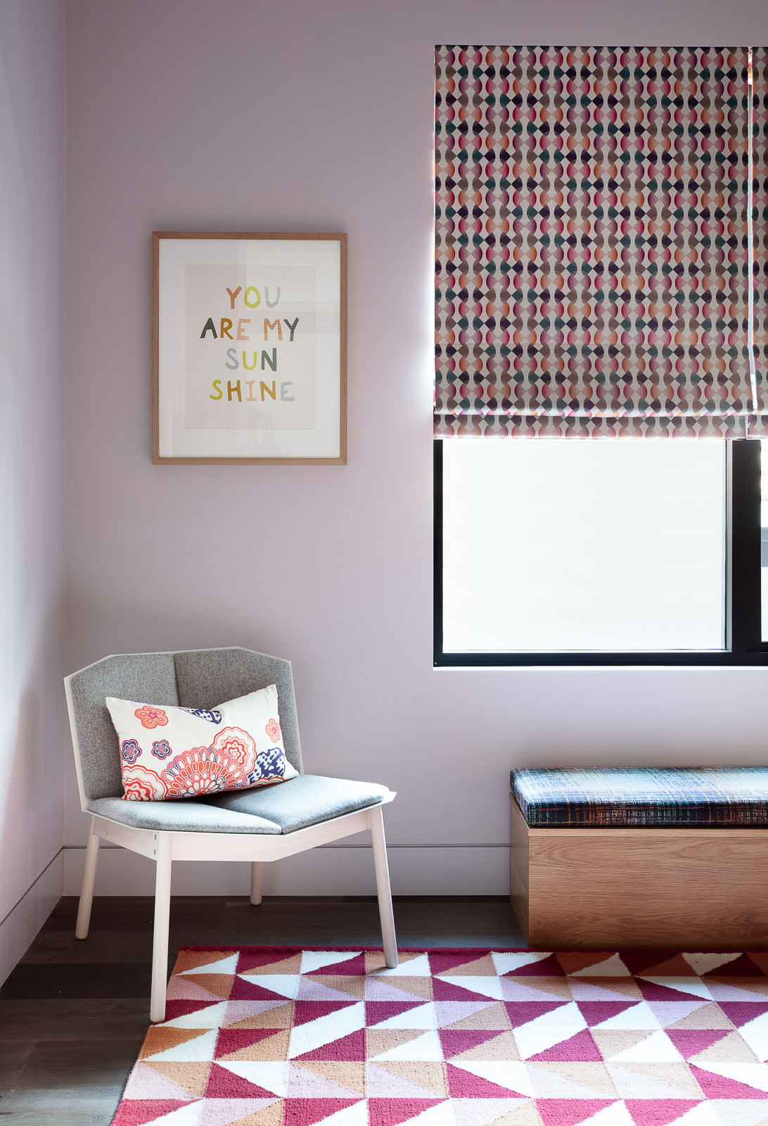 All Over Pink Scatter Cushion