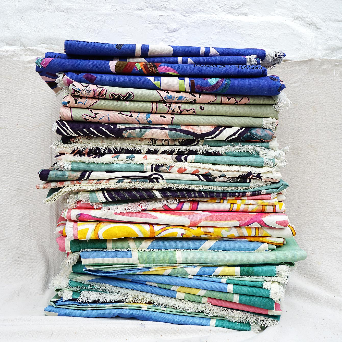 Cotton Linen Throw Stack