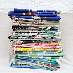 Cotton Linen Throw Stack