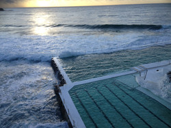 Icebergs at Dawn