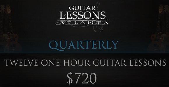 Twelve One Hour Guitar Lessons