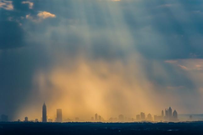 Atlanta Skyline Rainstorm