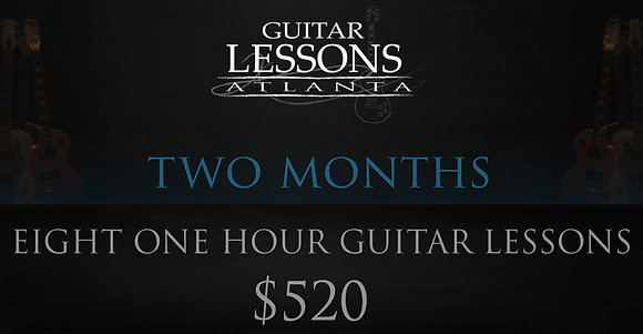 Eight One Hour Guitar Lessons
